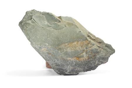 stone gray single granite boulder large river isolated big rock