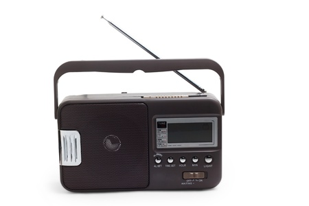 radio portable transistor old tuner fm set isolated Stock Photo