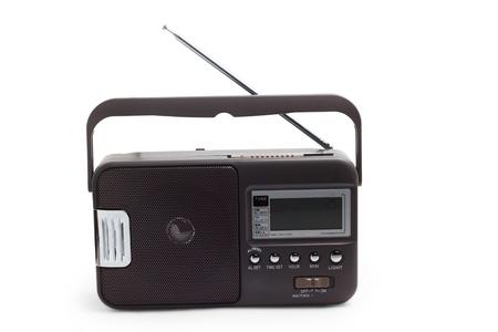 transistor: radio portative transistor vieux tuner fm isol� Banque d'images