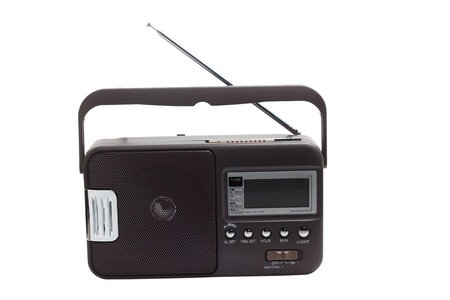 radio portable transistor old tuner fm set isolated fashioned photo