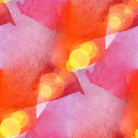 bokeh abstract orange red watercolor art seamless texture hand painted background photo