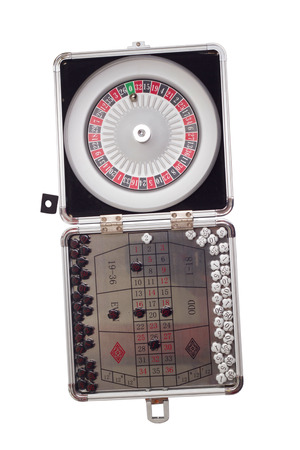 American Roulette table game sealed isolated on white background photo