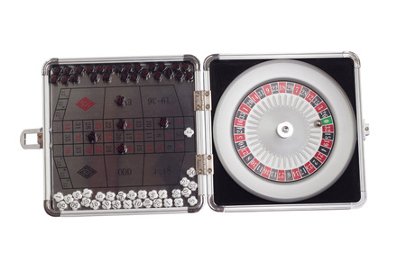 American Roulette and table game sealed board game clipping path photo