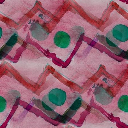 groen behang: patroon naadloze aquarel textuur achtergrond rood, groen behang hand-tekening