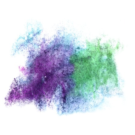 ink stain: art watercolor ink paint blue green blob watercolour splash colorful stain isolated on white background texture