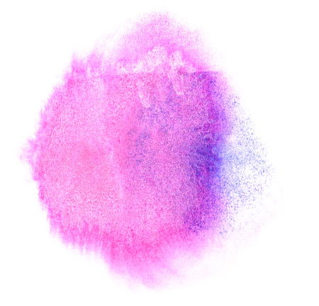 ink stain: art watercolor ink paint purple blob watercolour splash colorful stain isolated on white background texture