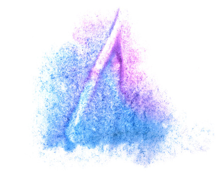 ink stain: art watercolor ink paint purple, blue blob watercolour splash colorful stain isolated on white background texture