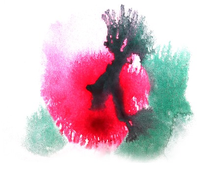 ink stain: art watercolor ink paint red, green, blue blob watercolour splash colorful stain isolated on white background texture