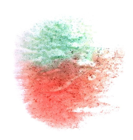 ink stain: art  watercolor ink paint blob watercolour red, green splash colorful stain isolated on white background texture Stock Photo
