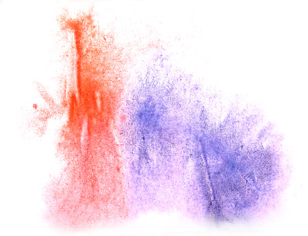 ink stain: art  watercolor ink paint blob watercolour splash colorful red, blue stain isolated on white background texture