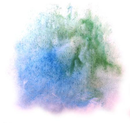 groen behang: moderne kunst blauw, groen behang naadloze patroon hand-tekening aquarel textuur achtergrond
