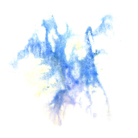 ink stain: paint splash  blue  ink stain watercolour blob spot brush watercolor abstract background texture Stock Photo