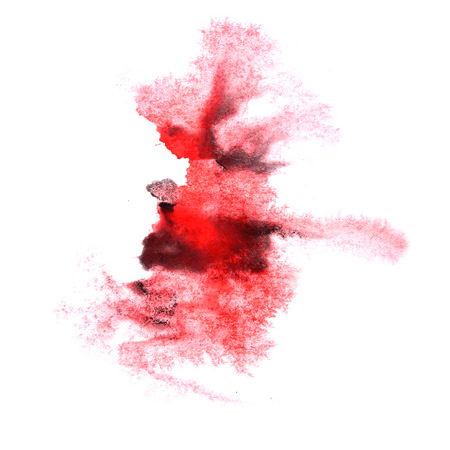 ink stain: paint splash black, red ink stain watercolour blob spot brush watercolor abstract background texture