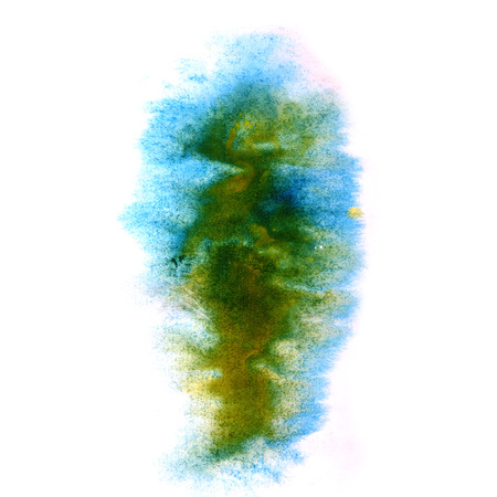 ink stain: paint splash ink blue, green stain watercolour blob spot brush watercolor abstract background texture