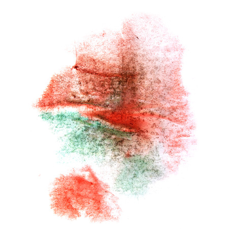 ink stain: paint splash ink stain green, red watercolour blob spot brush watercolor abstract background texture