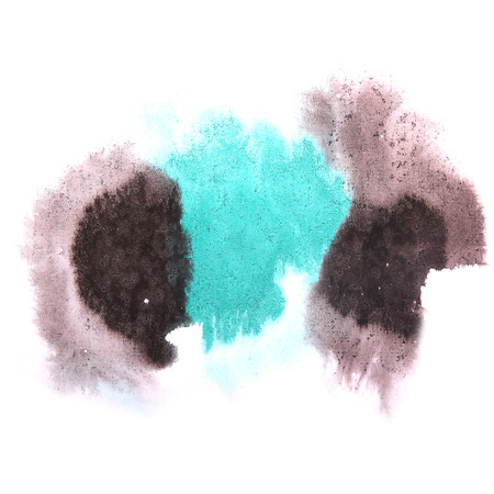 ink stain: paint splash ink stain watercolour blob black, blue spot brush watercolor abstract background texture
