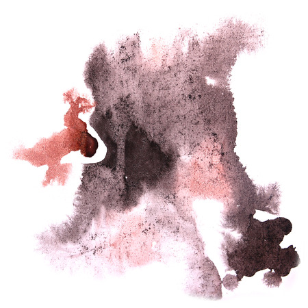 ink stain: paint splash ink stain watercolour blob black, brown spot brush watercolor abstract background texture