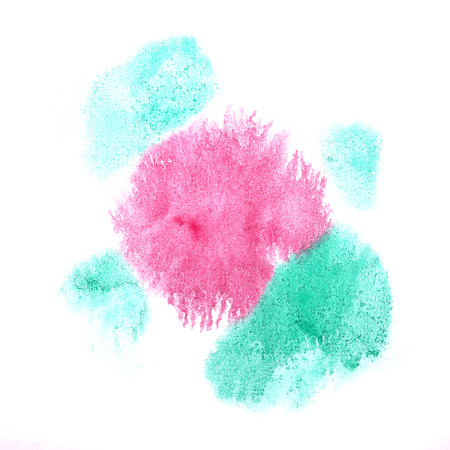 ink stain: paint splash ink stain watercolour blob blue, pink spot brush watercolor abstract background texture