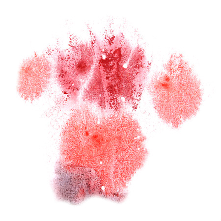 aquarell: paint splash ink stain watercolour blob red spot brush watercolor abstract background texture Stock Photo