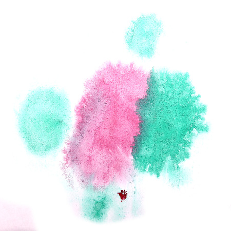 ink stain: paint splash ink stain watercolour pink, blue blob spot brush watercolor abstract background texture
