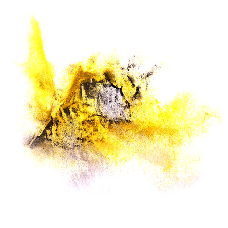 ink stain: paint splash ink stain yellow, black watercolour blob spot brush watercolor abstract background texture