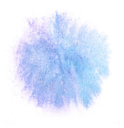 ink stain: art watercolor ink blue paint blob watercolour splash colorful stain isolated on white background texture