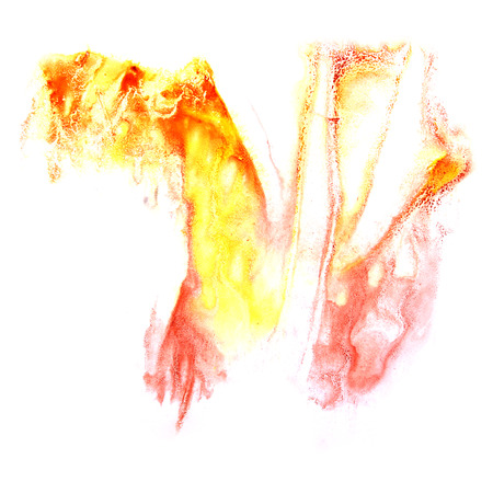 ink stain: paint orange,  red  splash ink stain watercolour blob spot brush watercolor abstract background texture Stock Photo