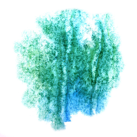 ink stain: paint splash blue, green ink stain watercolour blob spot brush watercolor abstract background texture Stock Photo