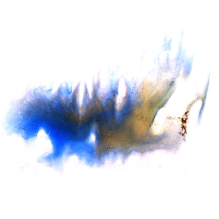 ink stain: paint splash brown, blue ink stain watercolour blob spot brush watercolor abstract background texture