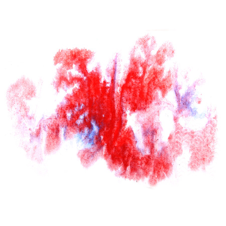 ink stain: paint splash ink  blue, red stain watercolour blob spot brush watercolor abstract background texture Stock Photo