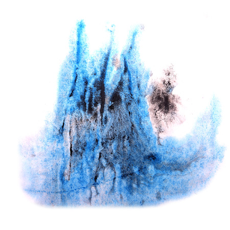 ink stain: paint splash ink blue, black stain watercolour blob spot brush watercolor abstract background texture