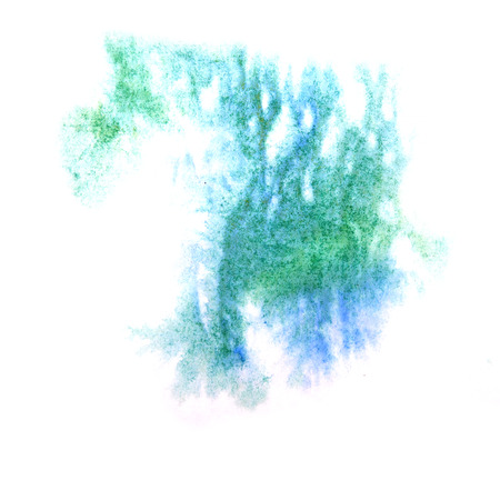 ink stain: paint splash ink green, blue stain watercolour blob spot brush watercolor abstract background texture
