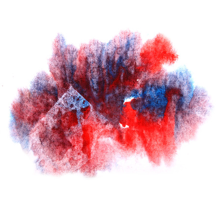 ink stain: paint splash ink red, blue stain watercolour blob spot brush watercolor abstract background texture