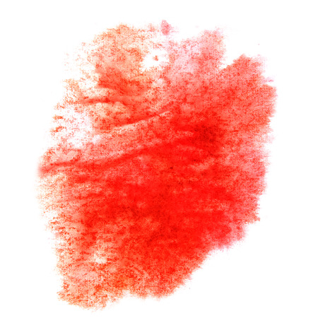 ink stain: paint splash ink stain  red  watercolour blob spot brush watercolor abstract background texture Stock Photo