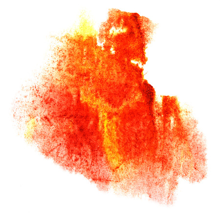 paint splash ink stain orange watercolour blob spot brush watercolor abstract background texture Stock Photo