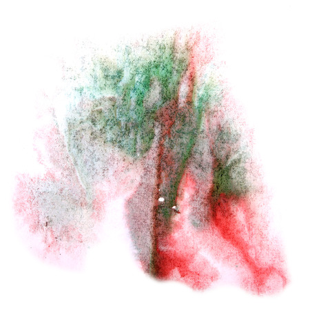 ink stain: paint splash ink stain red, green watercolour blob spot brush watercolor abstract background texture Stock Photo