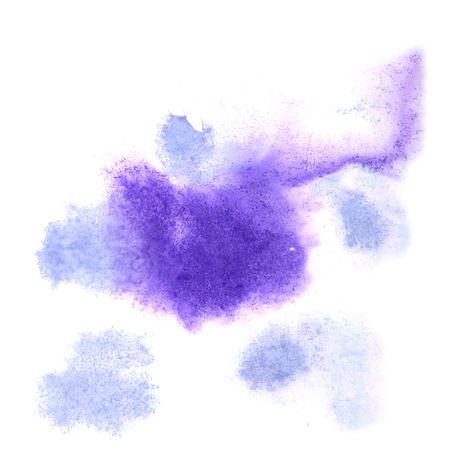 ink stain: paint splash ink stain watercolour blob blue spot brush watercolor abstract background texture Stock Photo