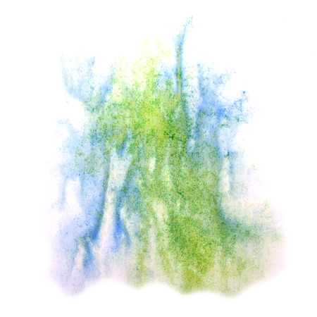 ink stain: paint splash ink stain watercolour green, blue blob spot brush watercolor abstract background texture
