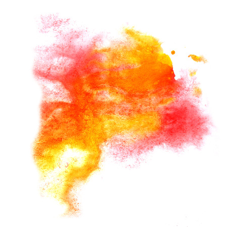 ink stain: paint splash red, orange ink stain watercolour blob spot brush watercolor abstract background texture