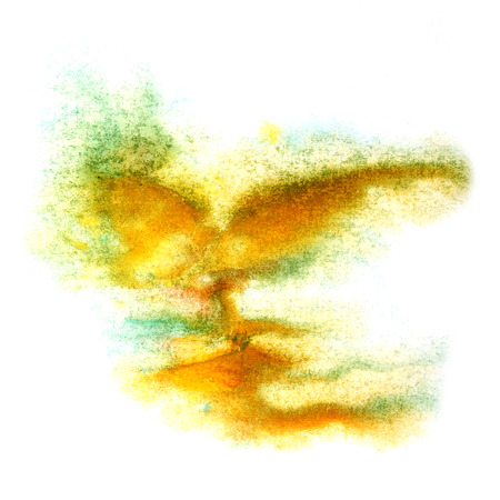 ink stain: paint yellow, green splash ink stain watercolour blob spot brush watercolor abstract background texture
