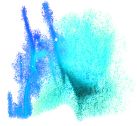 ink stain: art watercolor blue ink paint blob watercolour splash colorful stain isolated on white background texture