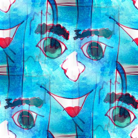 blue book: Mural seamless  pattern blue Book background texture