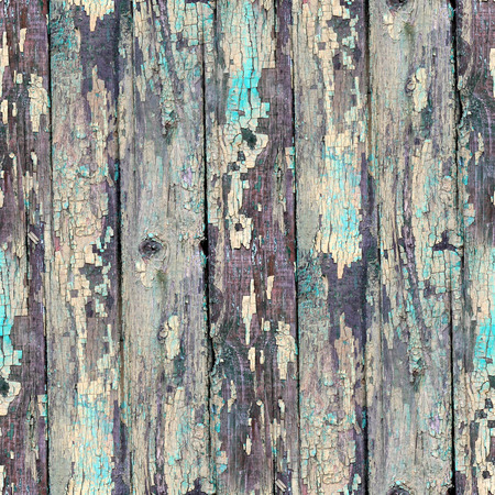 seamless blue texture old wood with cracks photo
