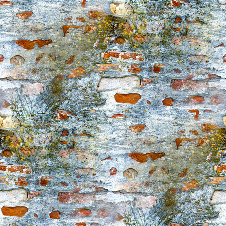 seamless texture brick wall with mold photo