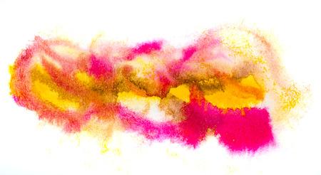 blotch: yellow pink macro spot blotch texture isolated on a white