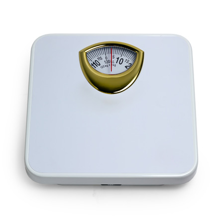 kilos: control weight  by floor scale isolated dieting concept