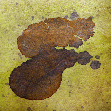 blob: watercolor abstract background paint brown color blob design spl Stock Photo