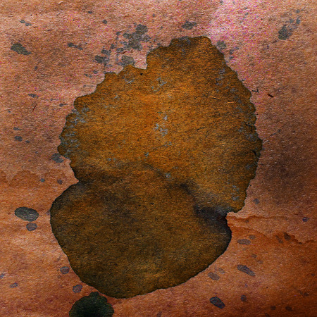 spl: watercolor abstract background paint brown color blob design spl Stock Photo