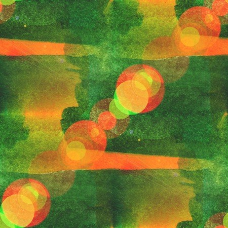 bokeh abstract green yellow watercolor, seamless texture hand painted background