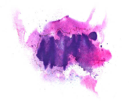 ink stain: abstract drawing stroke ink watercolor purple brush water color splash paint watercolour background